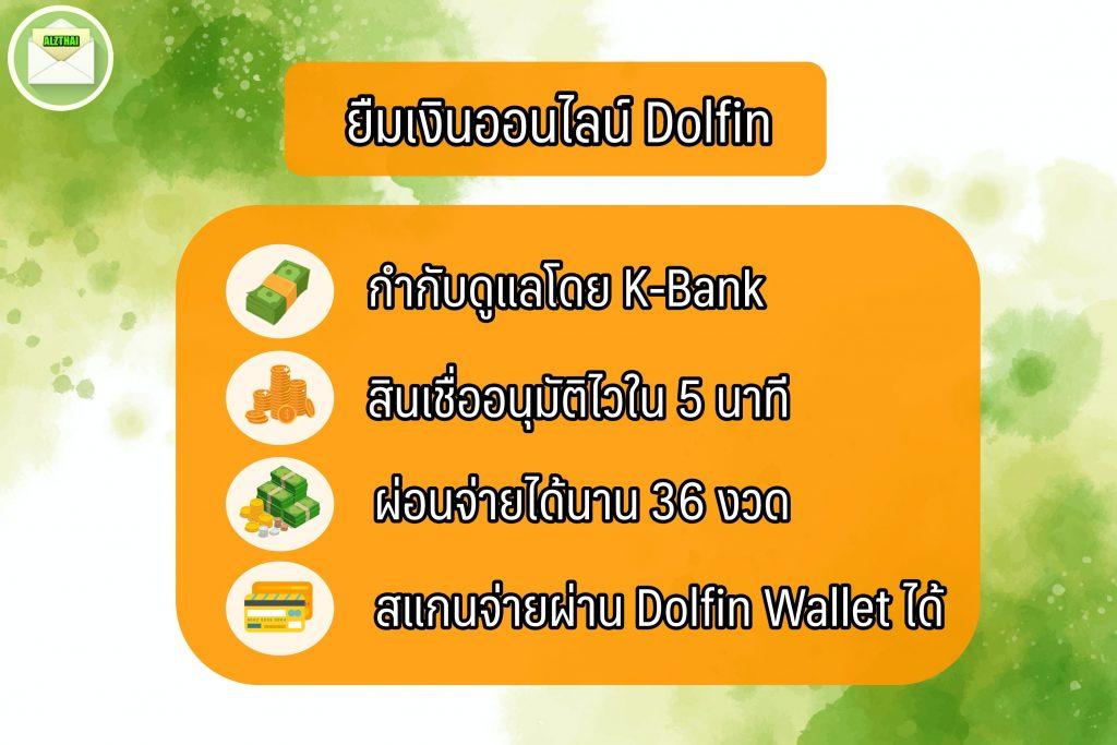 ยืมเงินออนไลน์ 2564 แอปดอลฟินมันนี่ (Dolfin Money)
