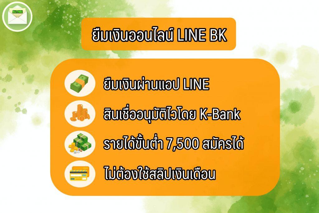 ยืมเงินด่วนออนไลน์ 2564 แอพไลน์บีเค (LINE BK)