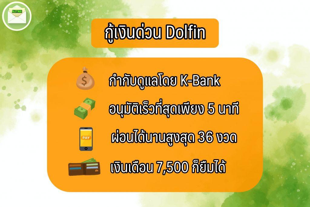 กู้เงินด่วน dolfin money เงินด่วน 10 นาที โอนเข้าบัญชี 2564
