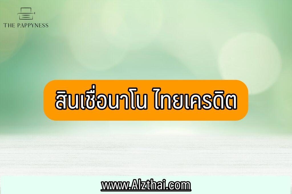 สินเชื่อไม่มีทะเบียนการค้า 2564 : สินเชื่อนาโนและไมโครเครดิตเพื่อธุรกิจรายย่อย ธนาคารไทยเครดิต